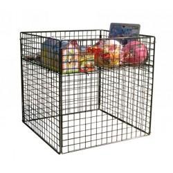 BP 01 CGR Espositore contenitorte per blisterati, imbustati o giocattoli in acciaio verniciato