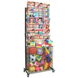 BP 07 RG (giocattoli) Espositore per riviste e carta regalo in acciaio verniciato