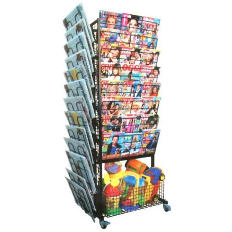 BP 16 RR Espositore bifacciale per riviste, giocattoli e quotidiani in acciaio verniciato