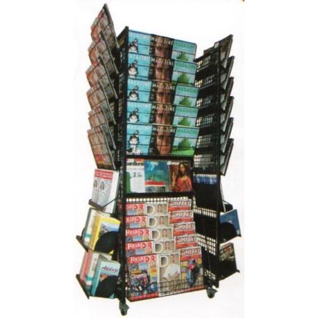 Komby Full - Quadrifacciale riviste Espositore quadrifacciale per riviste e libri in acciaio verniciato