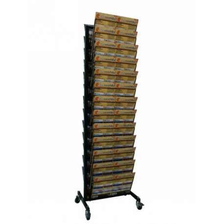 BP 26 RR Espositore per riviste bifacciale in acciaio verniciato