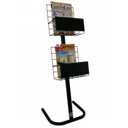 BP 02 LOC Espositore dispenser a2 piani per riviste