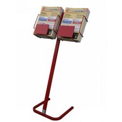 EXPO Secondamano Espositore in metallo per giornali di annunci gratuiti con 2 cesti in filo