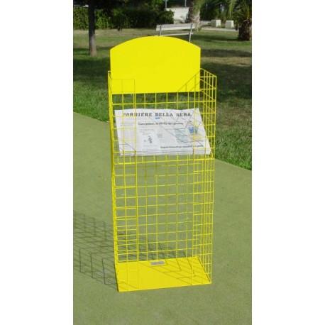 BP 01 GQP Espositore contenitore in rete per riviste/tabloid