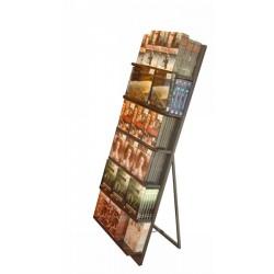 Expo CD-DVD-Libri con appoggio Espositore da terra chiudibilecon appoggioperCD-DVD-libri