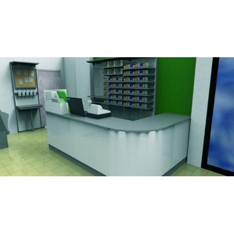 Progetto Retrobanco e Banco Sagomato per Tabaccheria Progetto e realizzazione