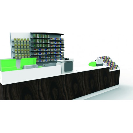 Progetto Retrobanco e Banco Lineare per Tabaccheria Progetto e realizzazione