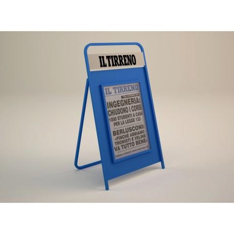 Porta Locandine Il Tirreno Portalocandine in acciaio verniciato completo di lastra trasparentein plexiglass
