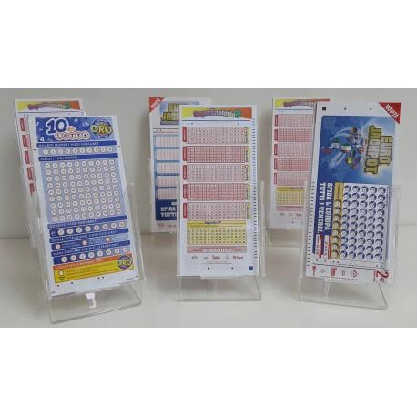 Expo Schedine (confezione da 6pz.) Confezione da 6 espositori in plexiglass per schedine