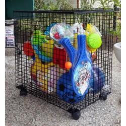 Cestone giochi Cestone su ruote per giocattoli, imbustati, blisterati, ecc.