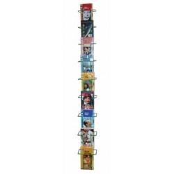 BP 09 VC Confezione 5 pezzi. Espositore da parete per libri/DVD/CD/riviste/fumetti, in acciaio verniciato.